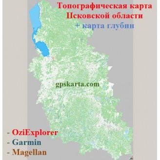 Псковская Область Топографическая Карта для Garmin (JNX)