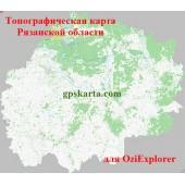 Рязанская Область Топографическая Карта для Garmin (JNX)