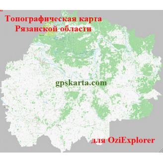 Рязанская область топографическая карта для смартфонов, планшетов и навигаторов (OziExplorer)