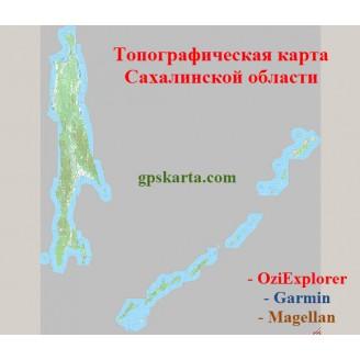 Сахалинская Область Топографическая Карта для Garmin (JNX)