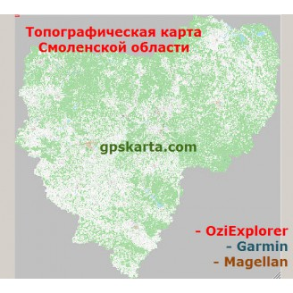 Смоленская Область Топографическая Карта для Garmin (JNX)