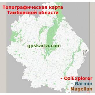 Тамбовская Область Топографическая Карта для Garmin (JNX)