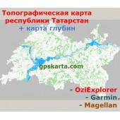 Татарстан Республика Топографическая Карта для Garmin (JNX)