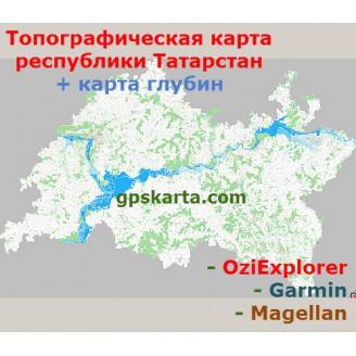 Республика Татарстан 2.0 топографическая карта для смартфонов, планшетов и навигаторов (OziExplorer)