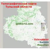 Тульская Область Топографическая Карта для Garmin (JNX)