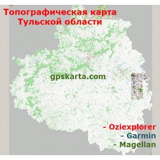 Тульская область топографическая карта для смартфонов, планшетов и навигаторов (OziExplorer)
