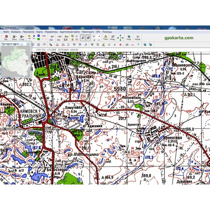 спутниковые карты тульской области с привязкой ozi