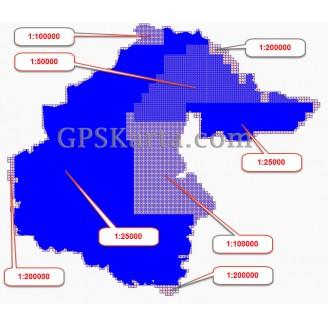 Тюменская Область Топографическая Карта для Garmin (JNX)