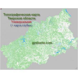 Тверская Область Топографическая Карта для Garmin (JNX)