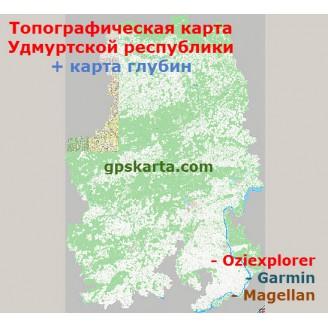 Удмуртская Республика топографическая карта для смартфонов, планшетов и навигаторов (OziExplorer)