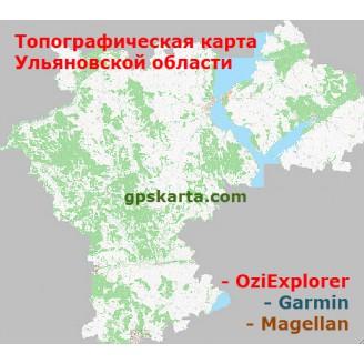Ульяновская Область Топографическая Карта для Garmin (JNX)