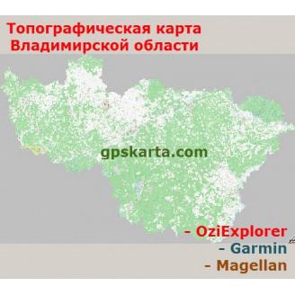 Владимирская область Топографическая Карта для Garmin (JNX)