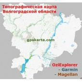 Волгоградская область Топографическая Карта для Garmin (JNX)