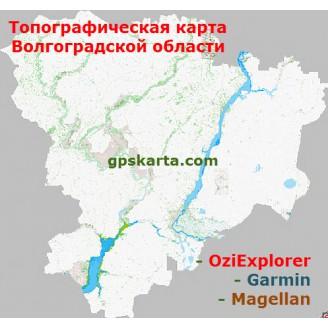 Волгоградская область + глубины 2.0 топографическая карта для смартфонов, планшетов и навигаторов (OziExplorer)