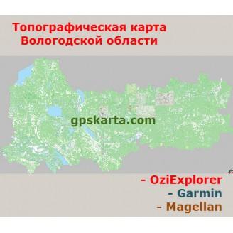 Вологодская область Топографическая Карта для Garmin (JNX)