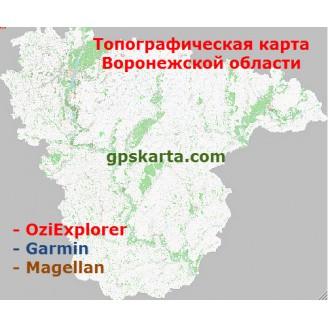 Воронежская область топографическая карта для смартфонов, планшетов и навигаторов (OziExplorer)