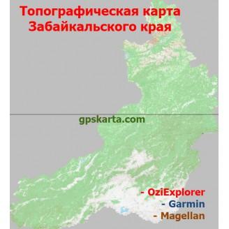 Забайкальский край Топографическая Карта для Garmin (JNX)