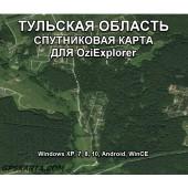 Тульская Область - Спутниковая Карта для OziExplorer