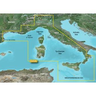 Средиземное Море центральная часть и западное побережье 2014.0 (15.50) VEU012R BlueChart G2 Vision