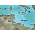 Средиземное море, Италия ЮЗ, Африка, Тунис, Алжир, Ливия 2014.0 (15.50) VEU013R BlueChart G2 Vision