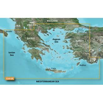 Эгейское, Ионическое, Критское, Мраморное моря 2014.0 (15.50) VEU015R BlueChart G2 Vision