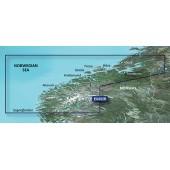 Норвежское море, Побережье Норвегии от Согне-фьорд до Офьорд VEU052R BlueChart G2 Vision