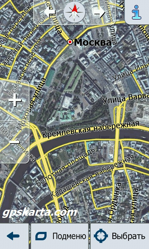 Москва спутник igo