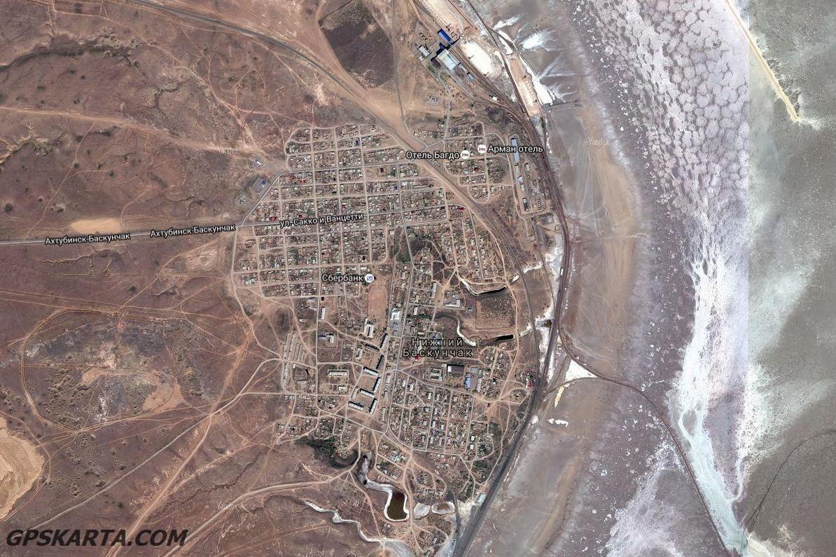 спутниковая карта астраханская область