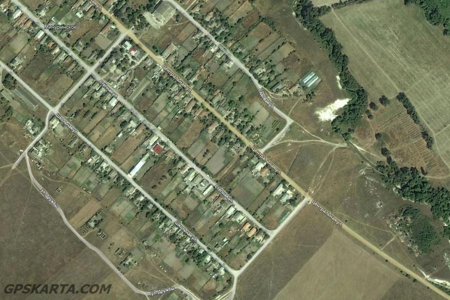 спутниковая карта крым