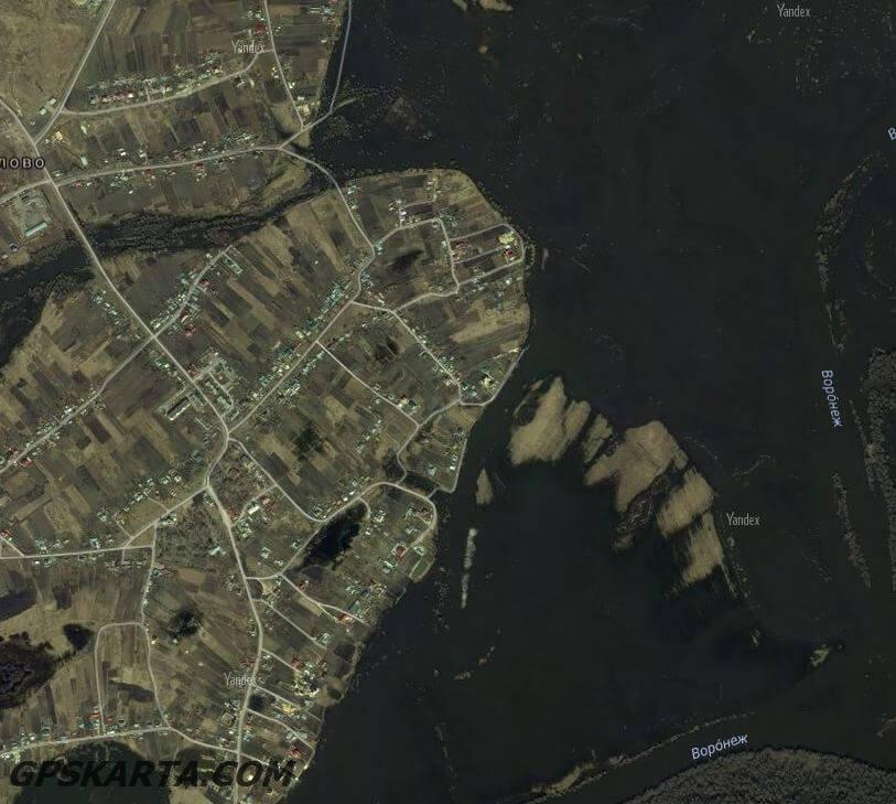 спутниковая карта Липецкая область