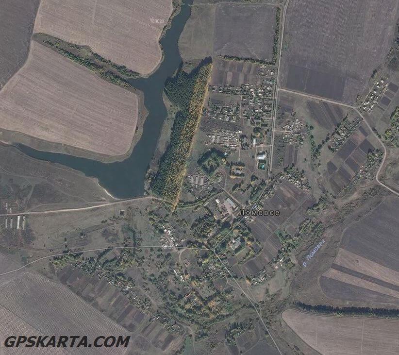 спутниковая карта орловская область