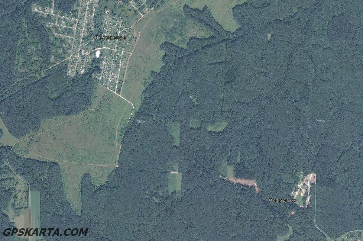 спутниковая карта тульская область