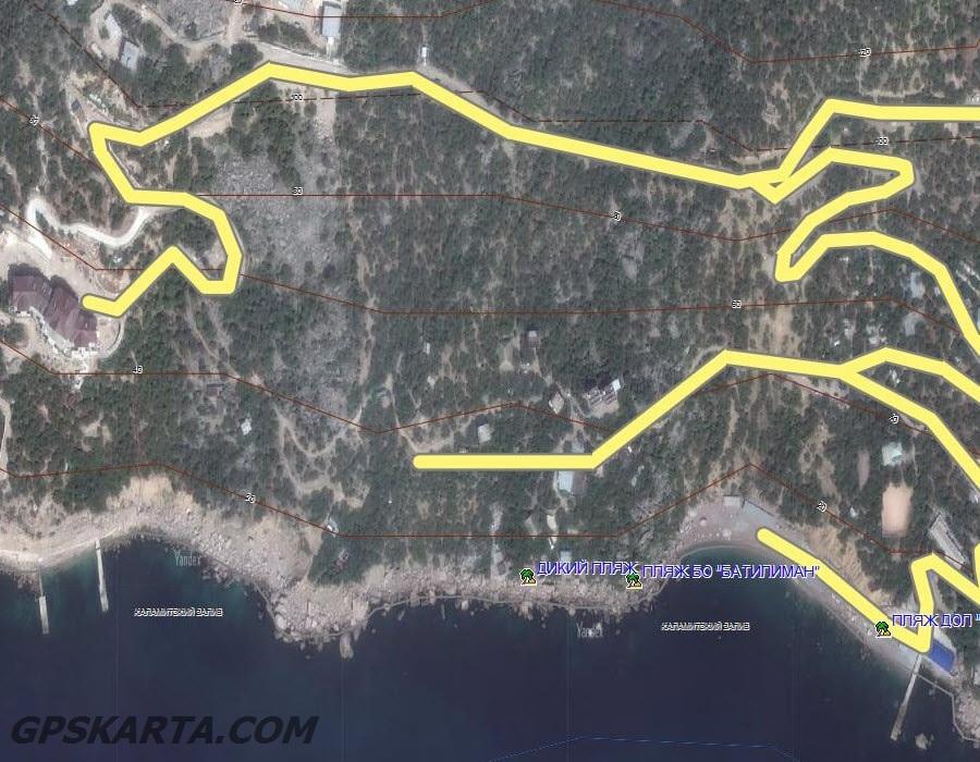 спутниковая карта крыма