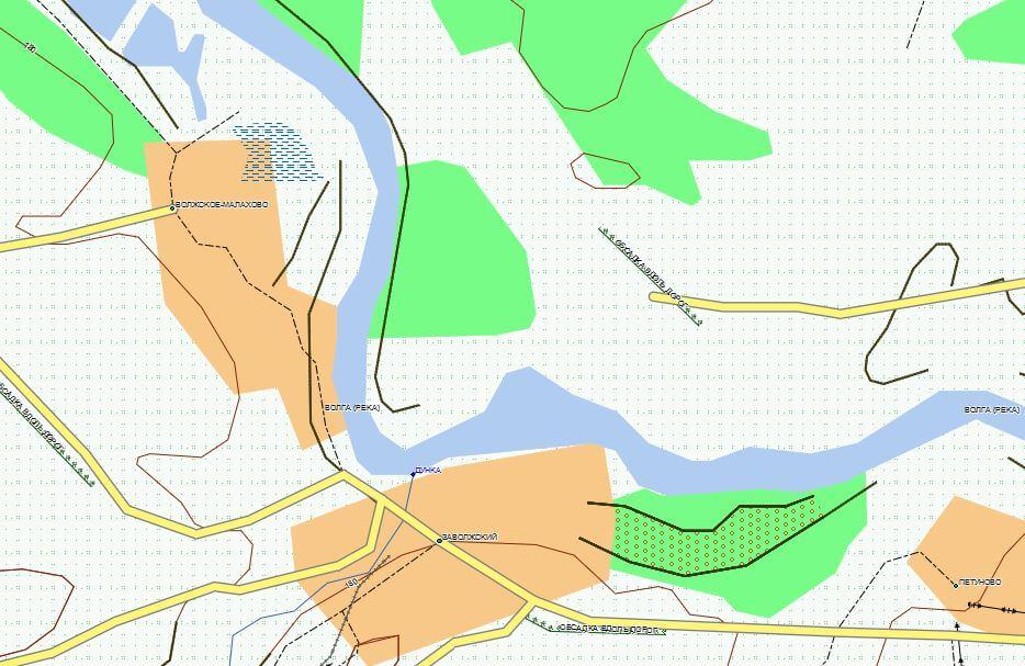 Тверская Область спутниковая карта