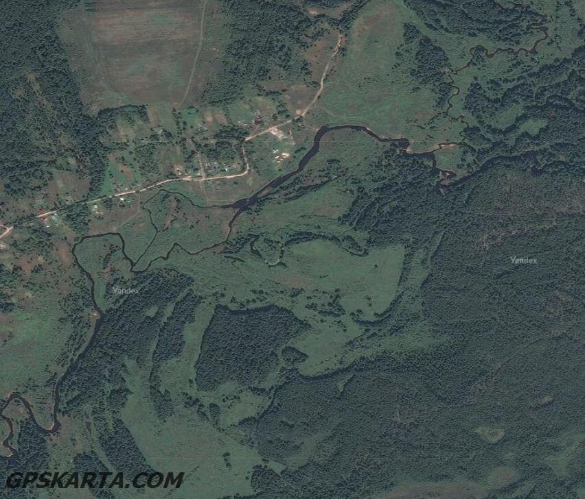 Владимирская область спутниковая карта