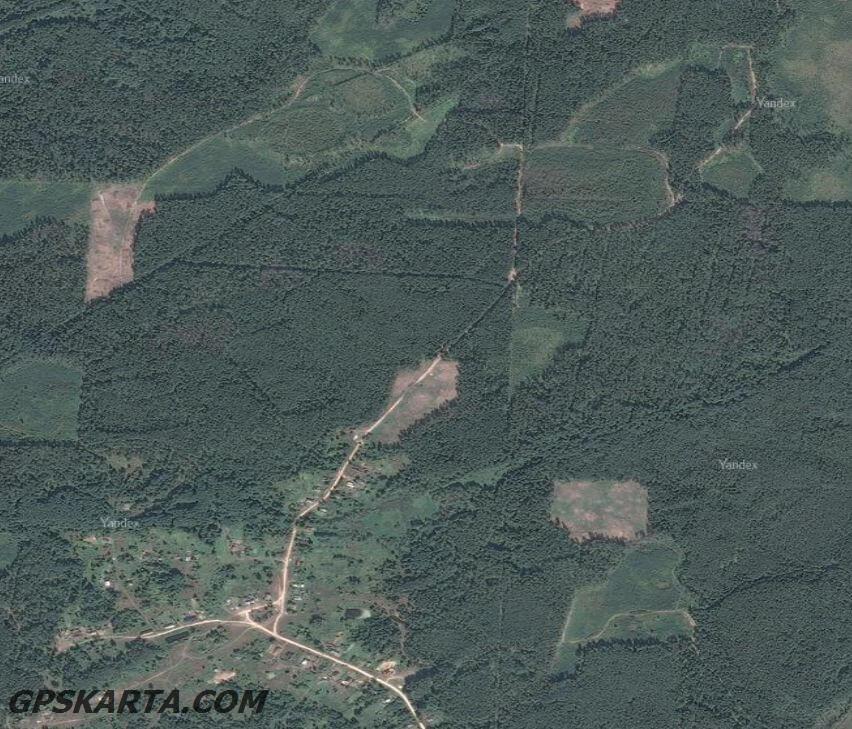 спутниковая карта Владимирская область
